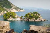 Isola di panagia, parga, grecia — Foto Stock