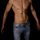 Strong athletic man torso — Stock Photo