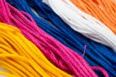 Several strands of colored cotton — Stock Photo