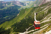 Red cableway  — Stock Photo