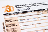 Italian tax return called 730 — Stock Photo