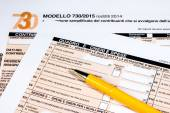 Italian tax return called 730 — Stock Photo