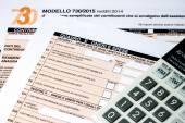 Italian tax return called 730 — Foto Stock