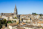 The bell tower of the monolithic church in Saint Emilion, Bordea — Stock Photo