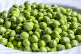 Close up of fresh green peas — Stock Photo