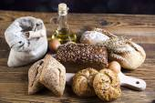 Breads in basket — Stock Photo