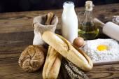 Breads in basket — Stock Photo