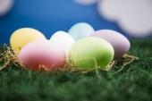 Colored eggs — Stock Photo