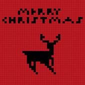 Pixel art deer — Stock Vector