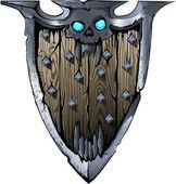 Death Knight Shield — ストックベクタ