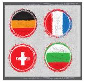Grunge pictogrammenset land 2 — Stockvector