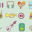 Doodle Music Icons Set 2 — Stock Vector #62255987