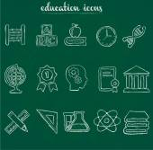 Doodle education icons — Stock Vector