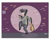 Bandit caught Illustration — Stock Vector