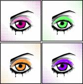 Eye Set Illustration — Stock Vector