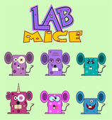 Lab mice set — Stock Vector