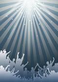 Proste muzyczne tło - wektor — Wektor stockowy
