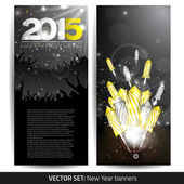 Set of two new year banners — Stock Vector