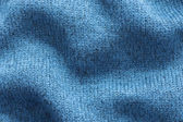 Texture background of blue polyester fabric sweater — Foto de Stock