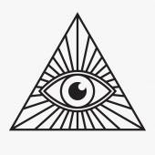 All seeing eye symbol, vector illustration — Stock Vector