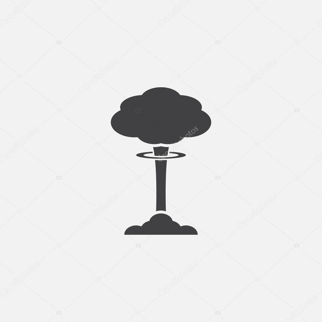 Nube de hongo, explosión nuclear, silueta — Vector de stock © kovalto1 #52921955