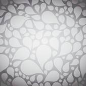 Abstract grey background, seamless pattern, tear drop design — Stock Vector