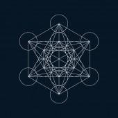 Geometric element, line design, hexagon, circle and triangle — Stock vektor