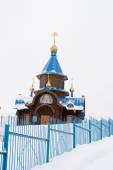 The Russian Orthodox Church in winter — Fotografia Stock