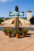 A lady statue in Napa Valley — Stock Photo