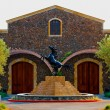 Horse statue in front of building — Stock Photo #66232847