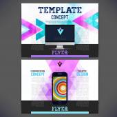 Abstract Flyer, Brochure Design Templates. — Stock Vector