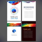 Abstract vector template design, brochure — Stock Vector