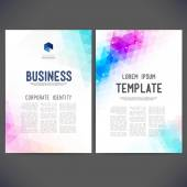 Abstract vector template design, brochure — ストックベクタ