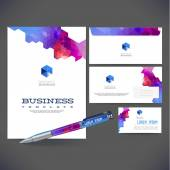Corporate identity kit or business kit with artistic — Stock Vector