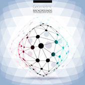 Abstract geometric lattice, the scope of molecules — Stock Vector