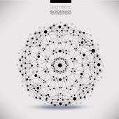 Abstract geometric lattice, the scope of molecules — Vector de stock