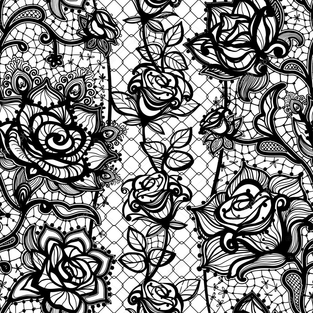 Seamless Abstract Pattern Vector Abstract Seamless Lace Pattern