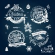 Christmas and New year labels — Stock Vector #59009963