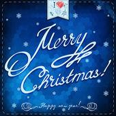 Nowy rok i kartkę z życzeniami christmas — Wektor stockowy