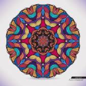 Colorful abstract vector circular lace. — Stock Vector