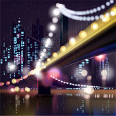 都市の夜の風景 — ストックベクタ