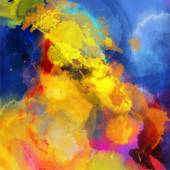 Abstract watercolor palette of blue colors, mix color — Stockvektor