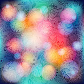 Floral pattern on bokeh background — Stockvector