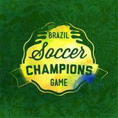 Brazilian football theme — Vettoriale Stock