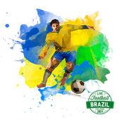 Geometrical soccer player — Stock Vector
