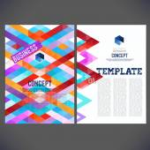 Abstract template design — Stock Vector