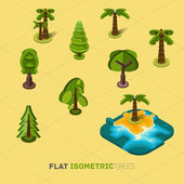 Trees isometric concept — Vector de stock