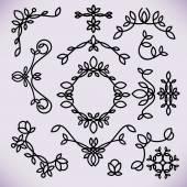 Vector line frame design elements,ornament, emblem, logo — Stock Vector