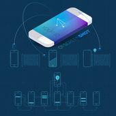 Mobile application concept — Stock Vector