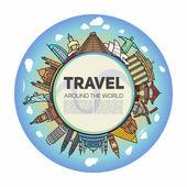Tourist, travel background — Stock Vector